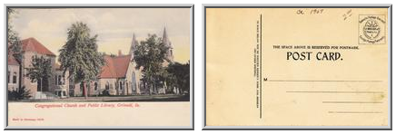 Congregational Church and Public Library, Grinnell, Ia.