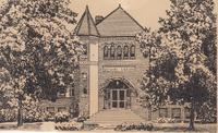 Line drawing of Stewart Library