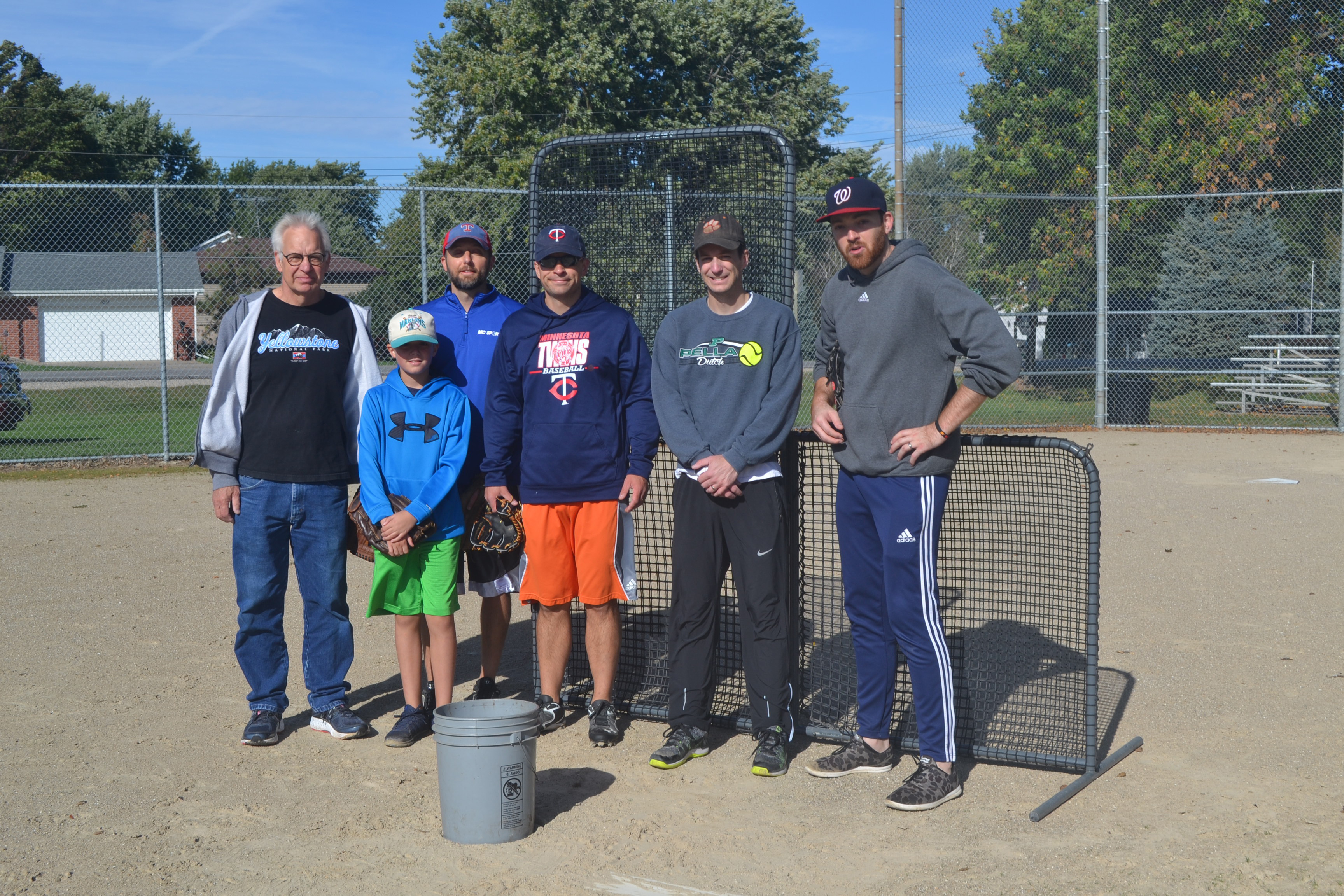 Getting the team back together: Coach David Brandt (far left) is joined (from left to right) by Andrew Carr, Dan Carr, the Brandt brothers Josiah and Nathanael, and Willie Stewart. Photo courtesy of Bridget Brandt