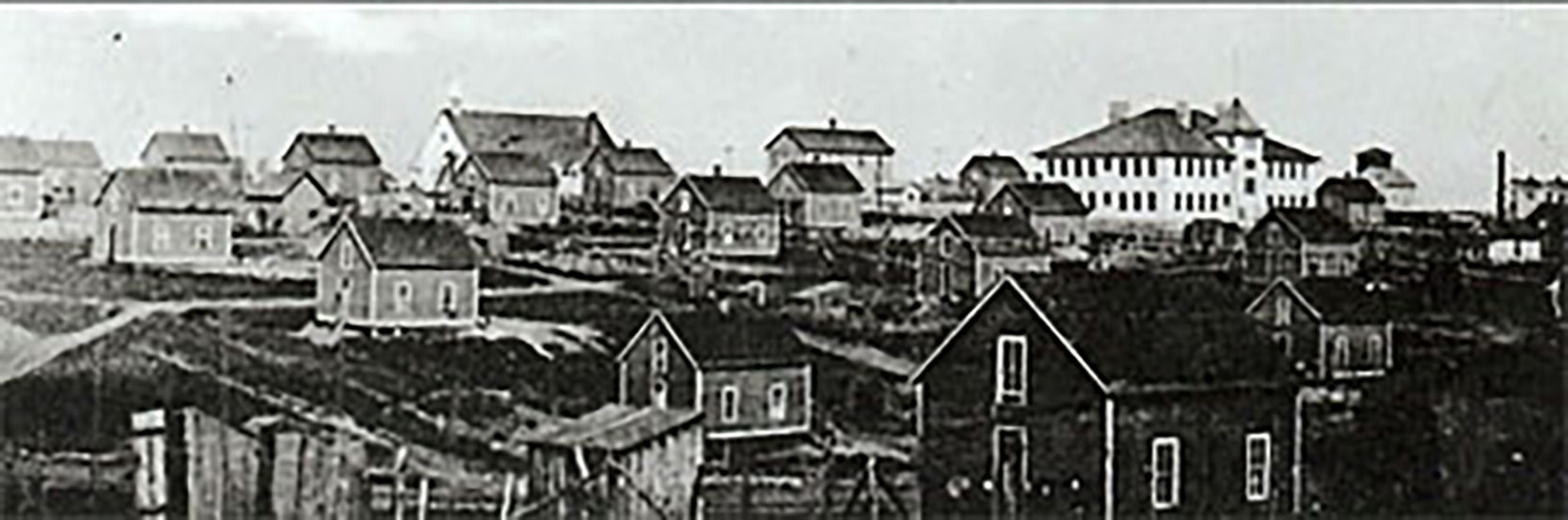 Buxton, Iowa, as it was at the turn of the 19th and 20th Centuries. Public-domain image from [Blackpast.org](http://blackpast.org).