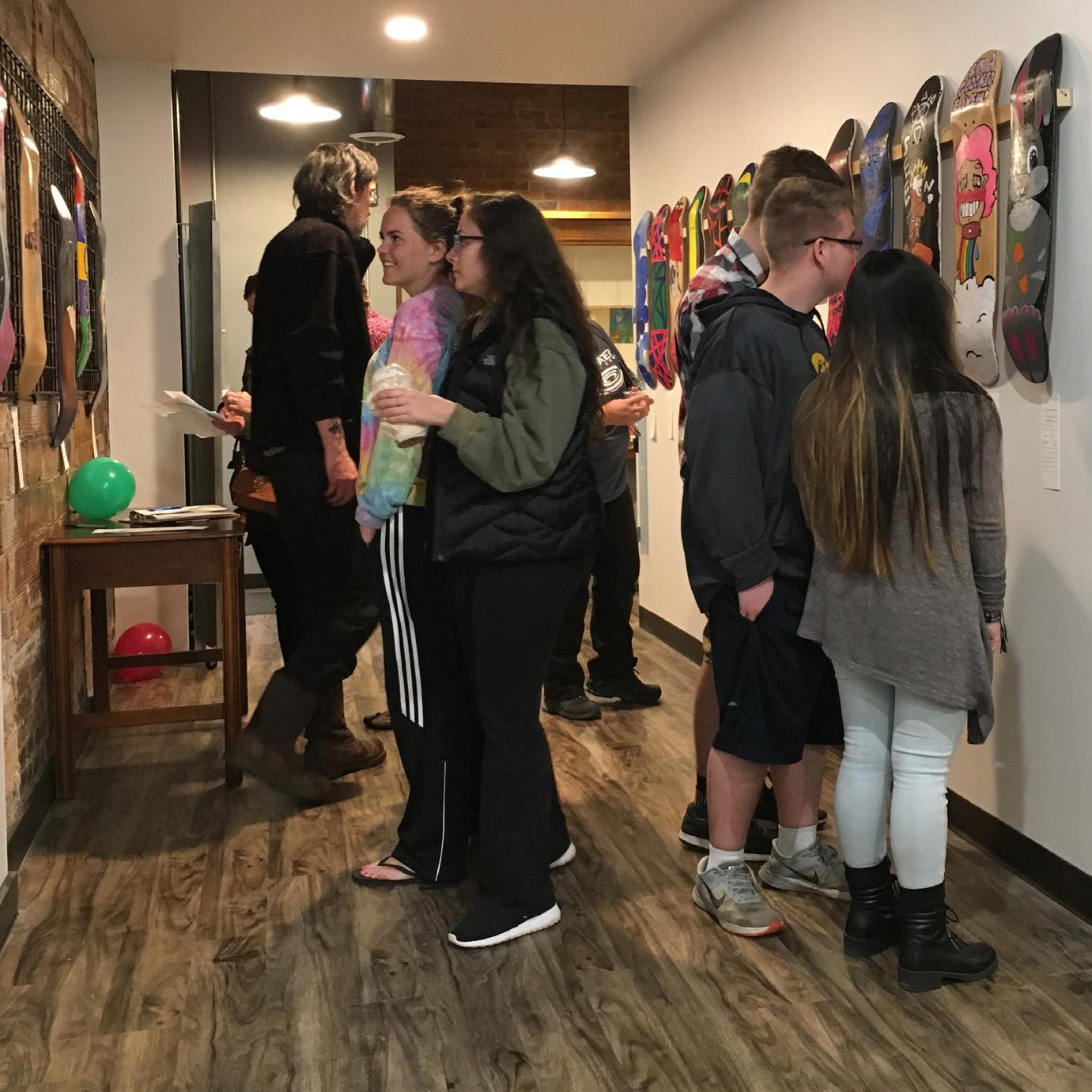 A gallery show at the Oskaloosa Art Center and Studios. Photo by Sarah Kargol