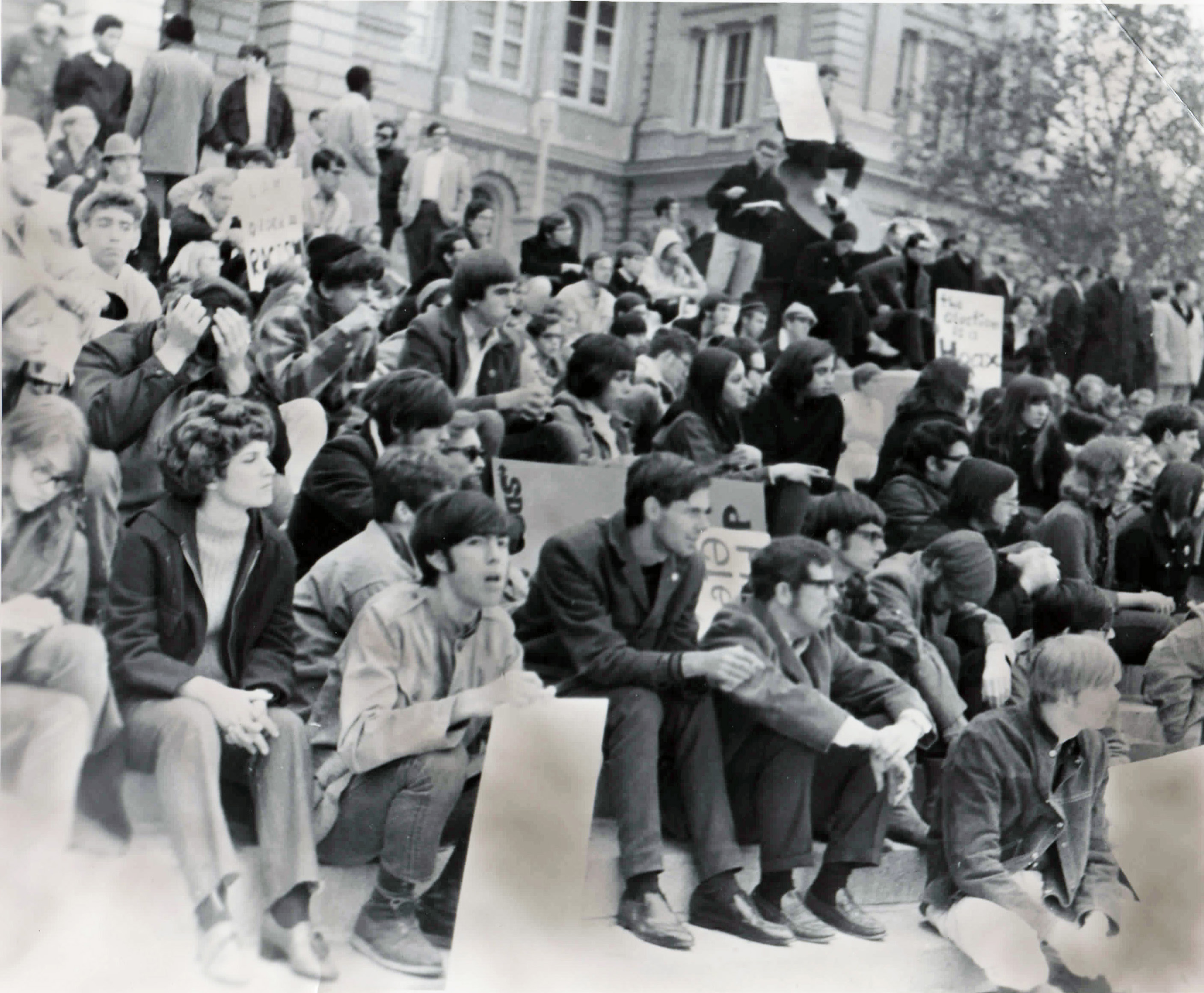 Protest against the Vietnam war in 1968, at Drake University
