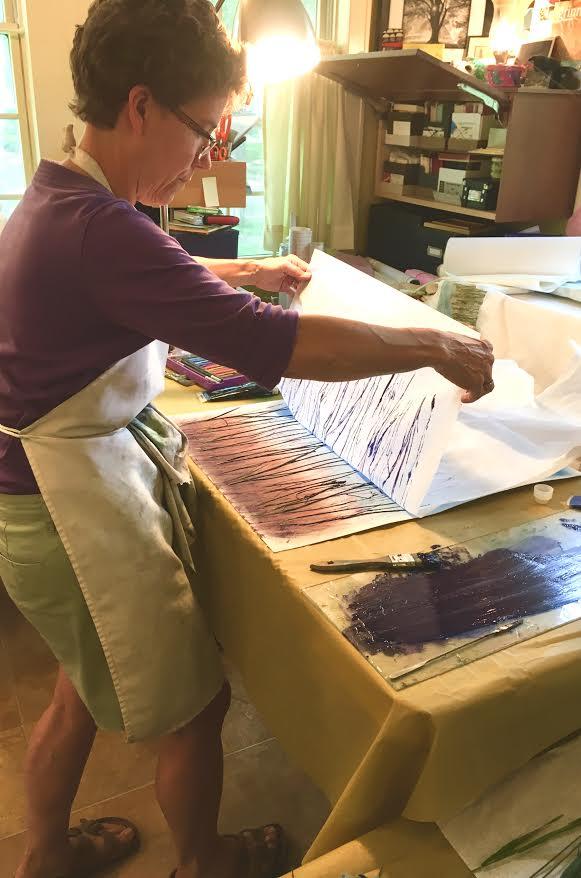 Snouffer at work in her studio