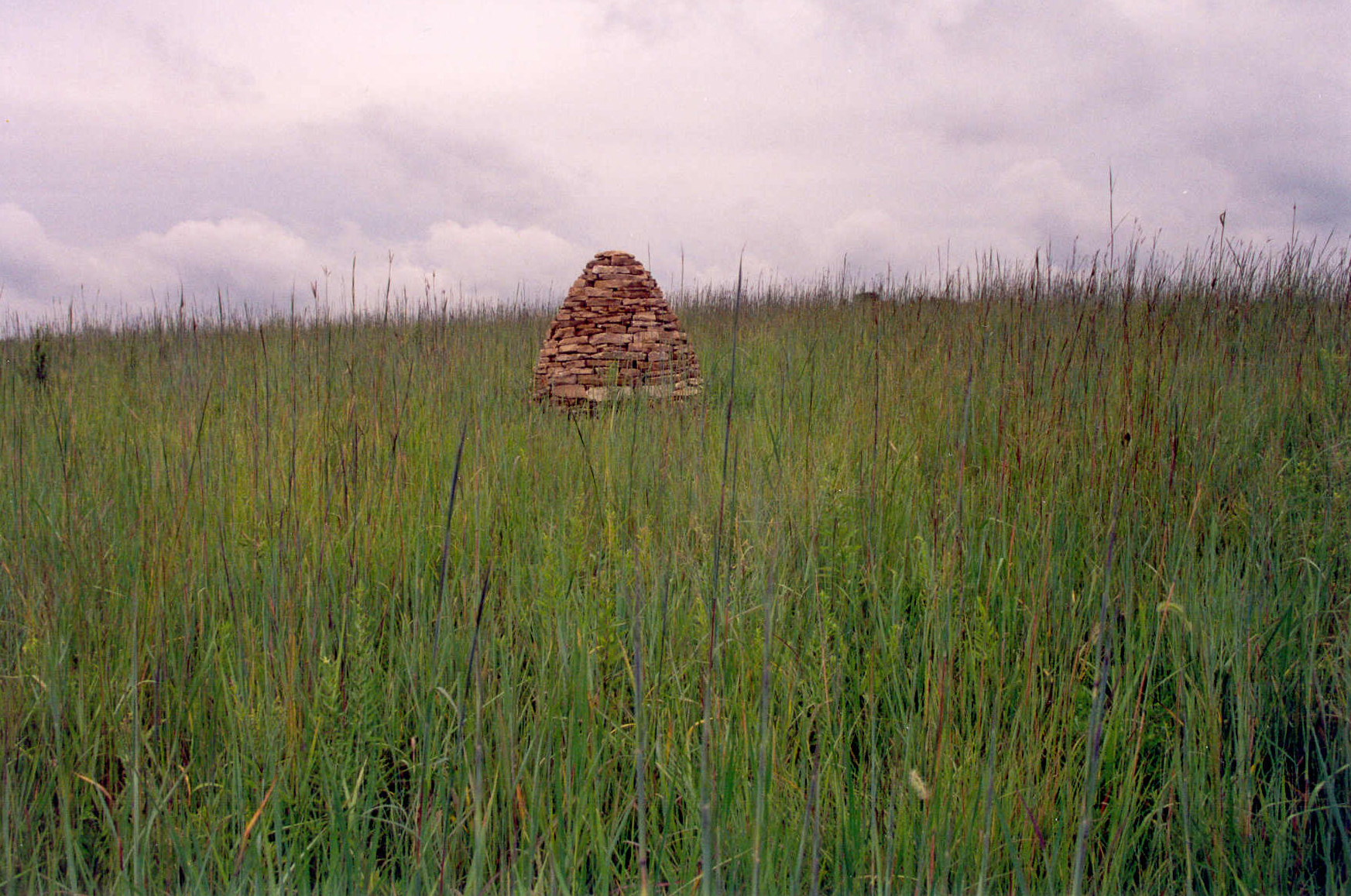 Cairn installation, by Andy Goldsworthy, at the [Conard Environmental Research Area](https://www.grinnell.edu/academics/majors-concentrations/biology/cera) (CERA). Photograph by Justin Hayworth