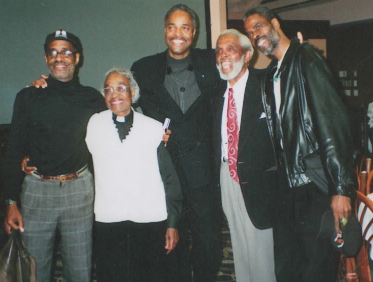 The last time the family Mary and Ellsworth created was together, in Des Moines, 2010, when Ellsworth was inducted into the Iowa Jazz Hall of Fame. From left to right, Dartanyan Brown, Rev. Mary Alice Brown, Don C. Brown, Ellsworth T. Brown and Kevan L. Brown