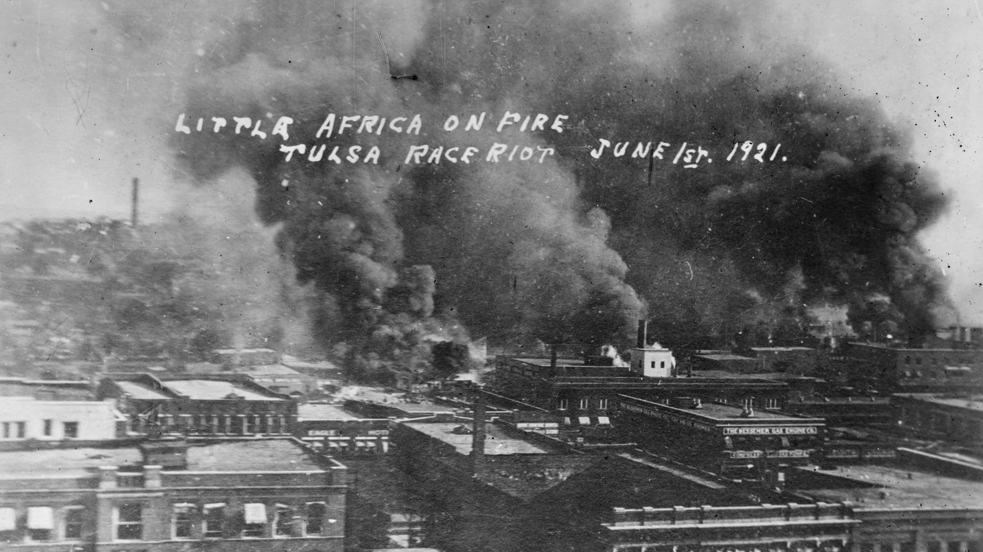 Photo courtesy of the Library of Congress, American Red Cross national Photograph Collection. Tulsa's Greenwood neighborhood is referred to here as 'Little Africa'