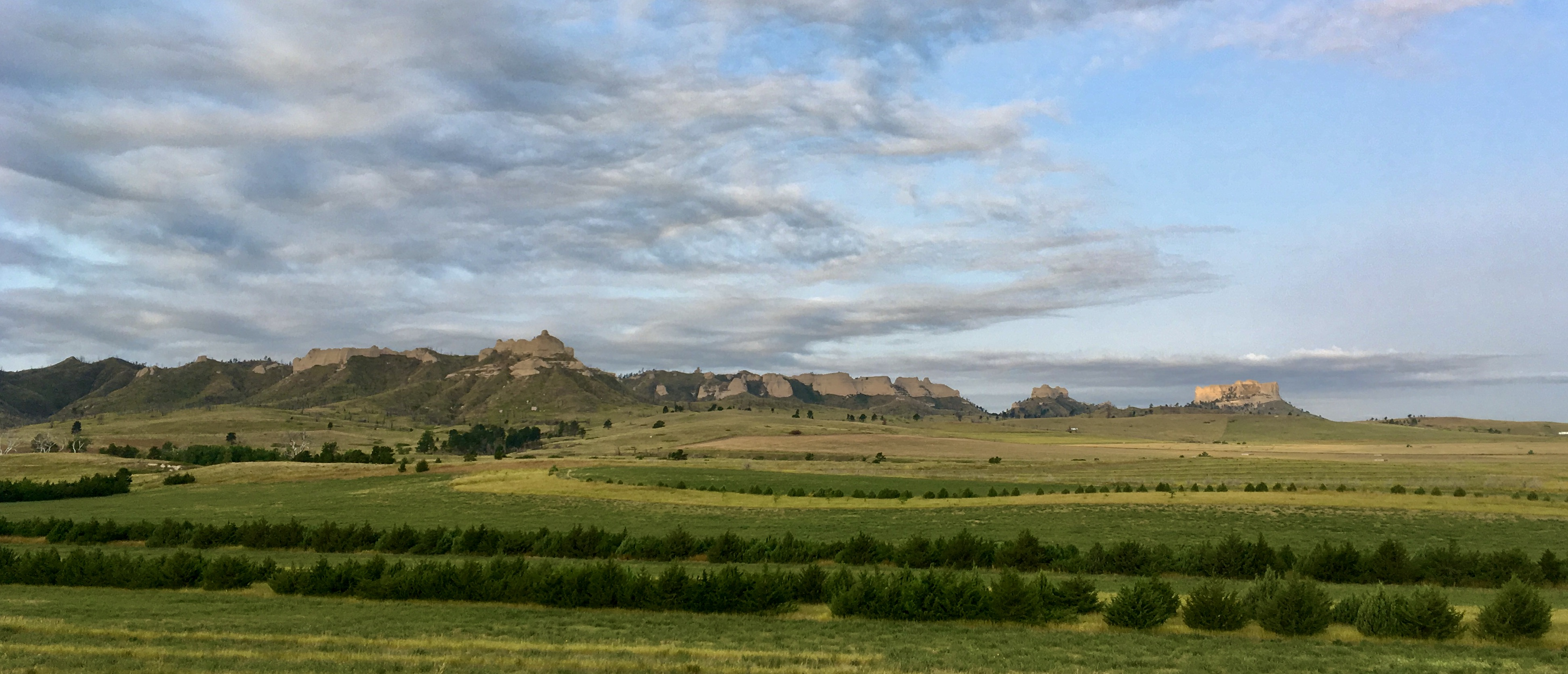 Bluffs outside Crawford, Nebraska. The trail was recently rerouted much closer to the bluffs.
