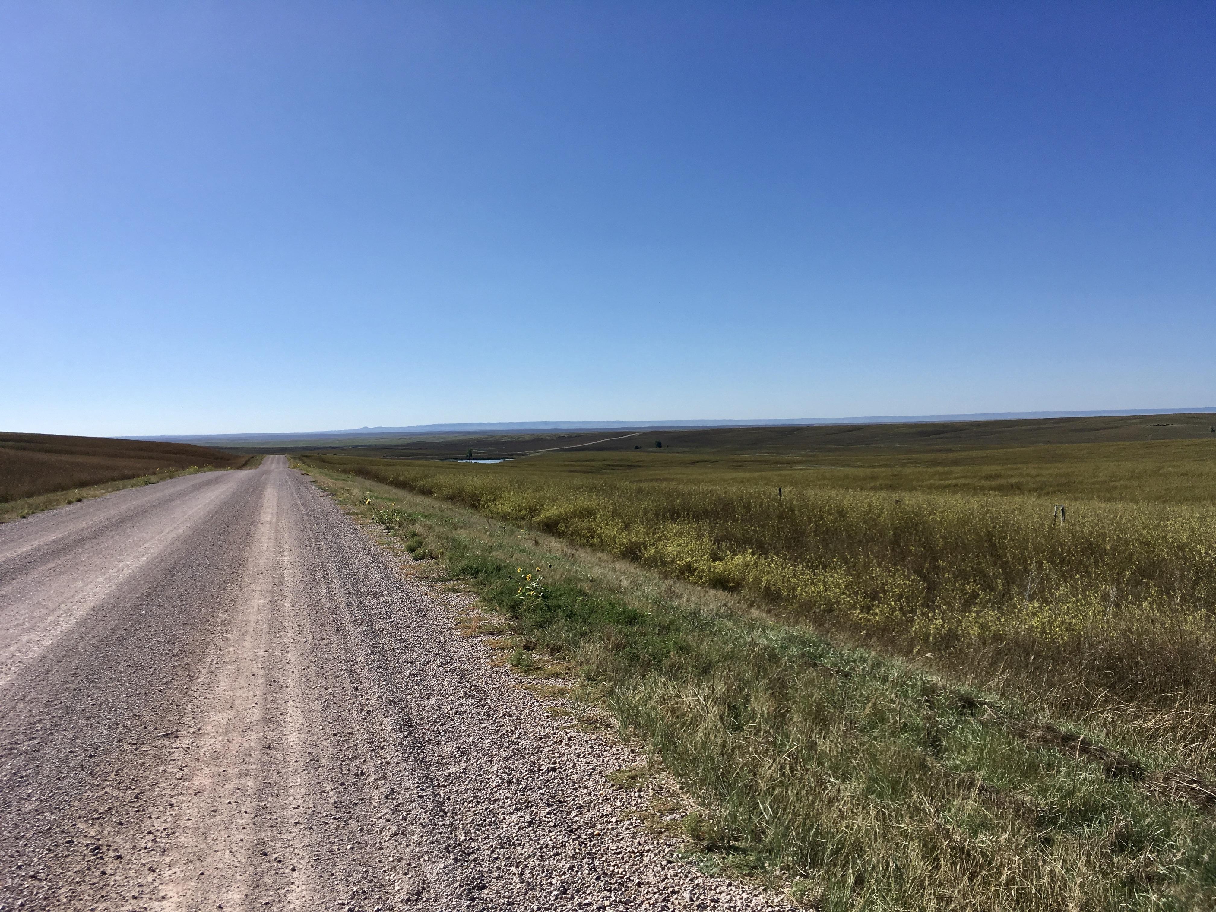 Long, straight road from Edgemont, SD into Nebraska