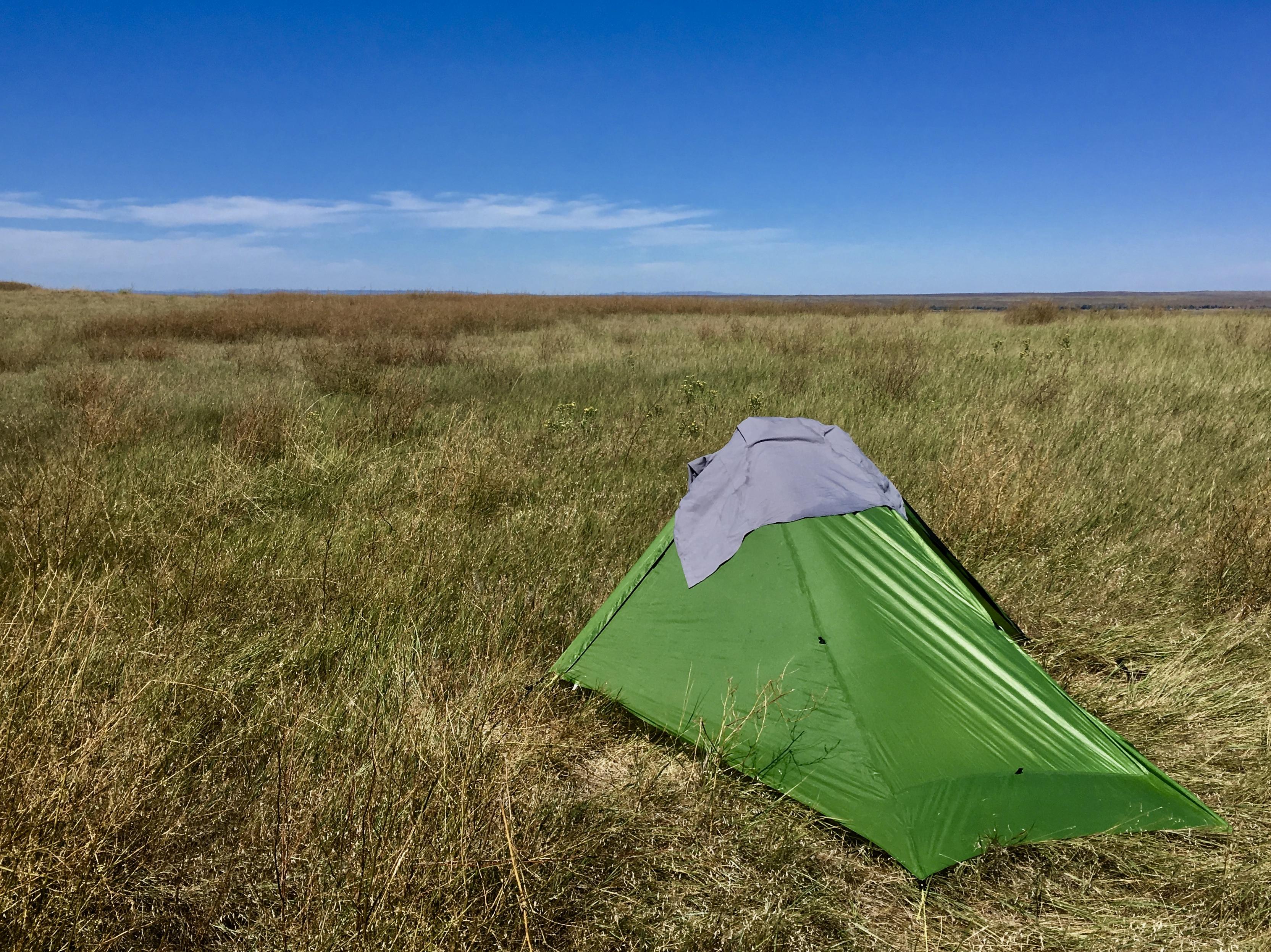 Pony's tent in the Oglala National Grasslands, Nebraska