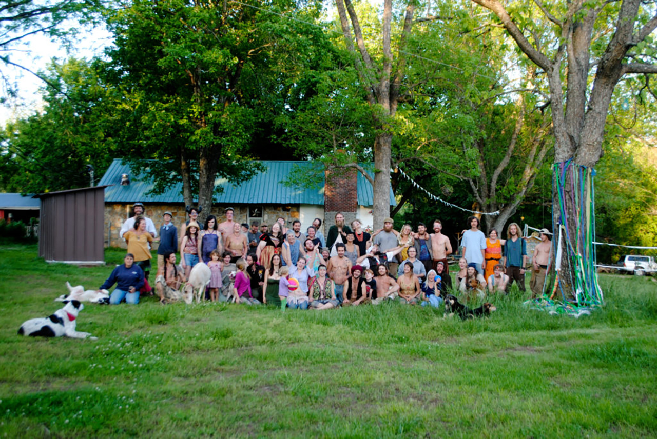 East Wind's residents in May of 2016. Photo courtesy of the East Wind Community