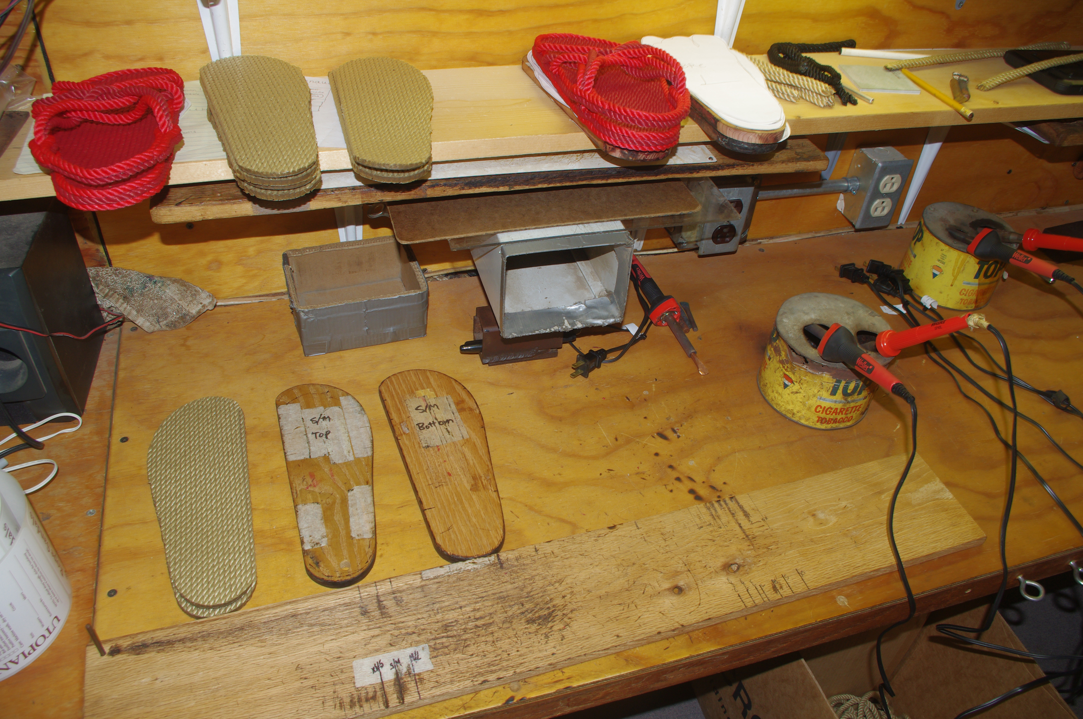 Products for which the East Wind Community is renowned include nut butter and its line of Utopian rope sandals, produced by its members in the on-site workshop