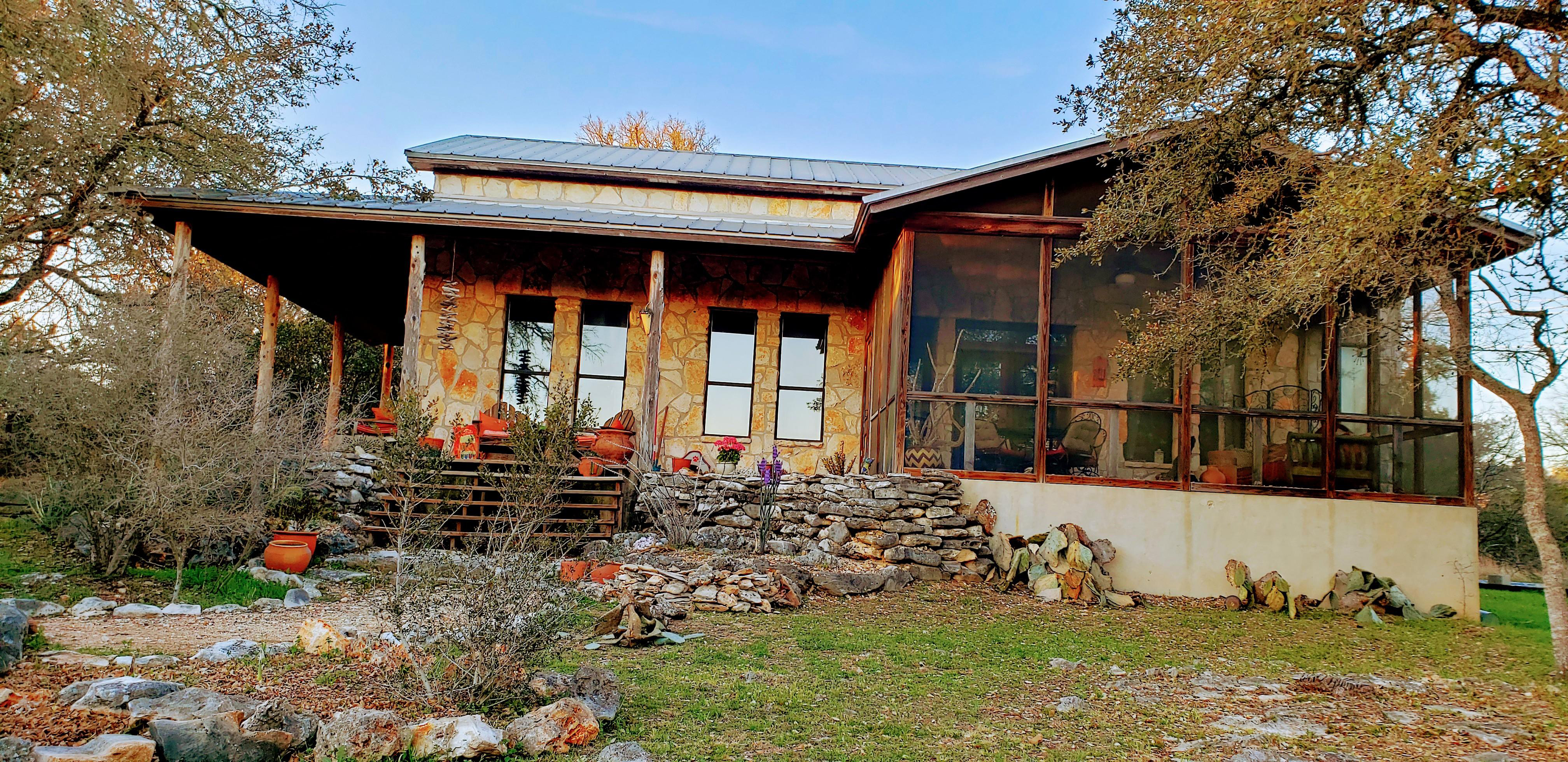 Mr. Taylor used limestone and timber to build his house because of their prevalence in the Hill Country landscape