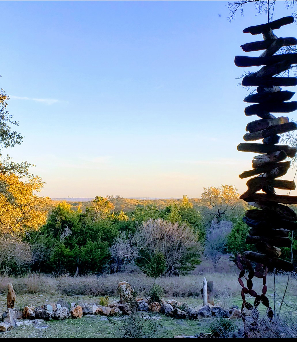 The view over the Hill Country from Craig Taylor's back porch.